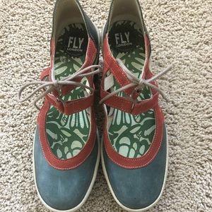 Fly London Wedge Tie Shoe
